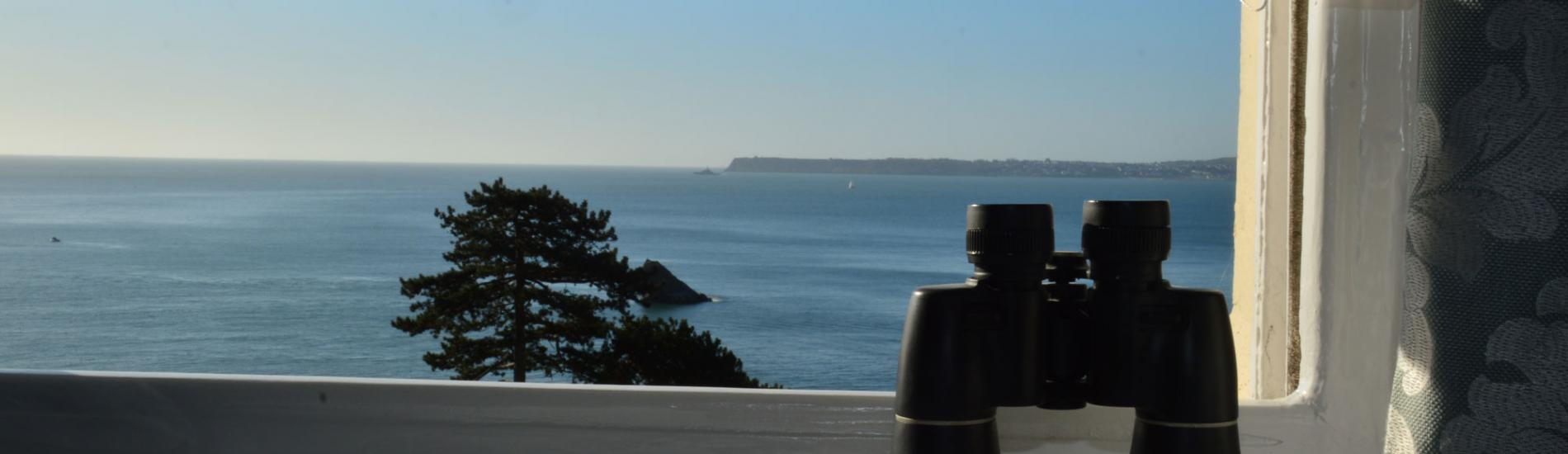 Spectacular sea views from the Osborne Hotel Torquay Devon