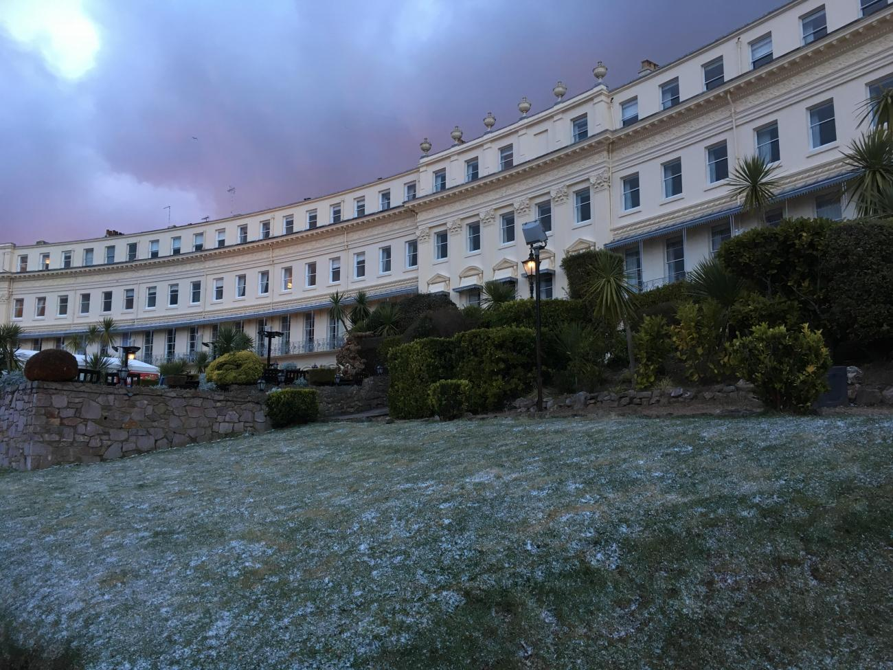 Snow at the osborne hotel torquay